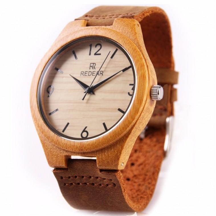 Montre Bois Homme avec bracelet cuir - John