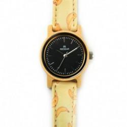 Montre Bois Femme avec bracelet cuir - Betty