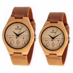 Montre Bois Duo homme et femme avec bracelet cuir - DUO