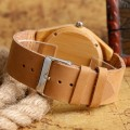 Montre Bois Homme avec bracelet cuir - Norman