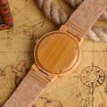 Montre Bois Homme avec bracelet cuir - Jeffery